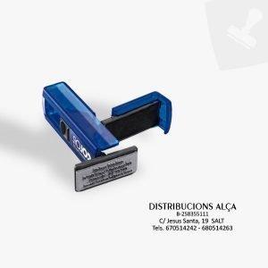 Segell portable mitjà. Central segells de goma.