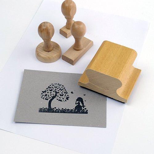 Segells de goma de fusta