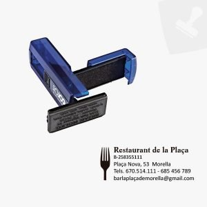 Segll gran portable. Pocket stamp 30. Central segells de goma.