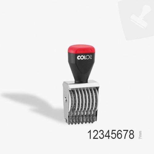 Segell manual numerador i datador de 8 bandes i 7mm dl'açada. Central segells de goma.