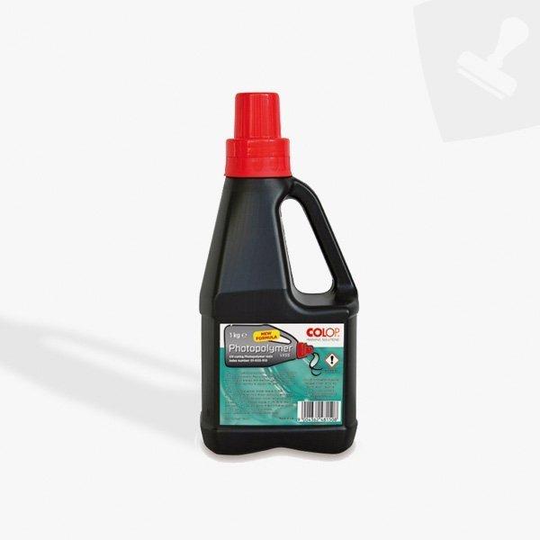 Fotopolímer. Resina líquida. Central segells de goma