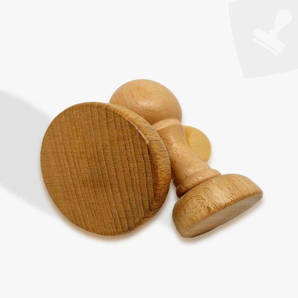 Montura de fusta. Central segells de goma